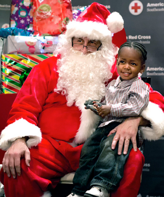 American Red Cross Children's holiday party